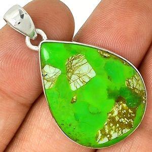 Jewelry - Quartz In Green Mohave 925 Pendant